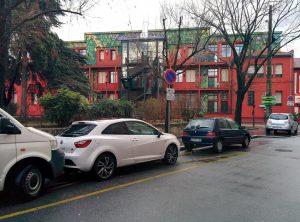 Aires occupées par des véhicules particuliers